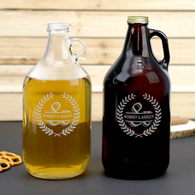 Personalized Couples Beer Growler