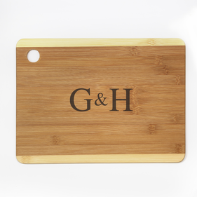 Personalized Couples Cutting Board