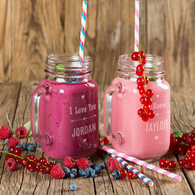 Personalized Couples Glass Jars