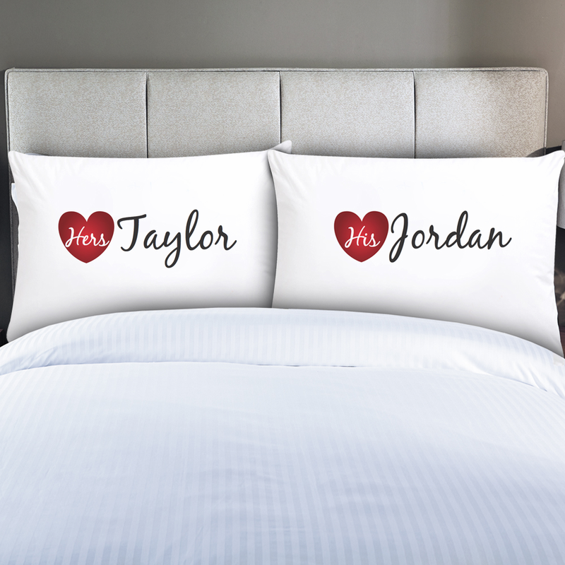 Personalized Couples His Amp Hers Pillow Cases Monogram Online