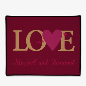 Personalized Couples Love Doormat
