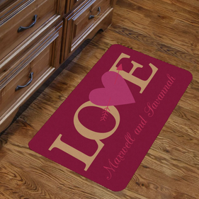 Personalized Couples Love Indoor Floor Mat