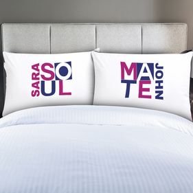 Personalized Couples Soul Mate Pillow Cases
