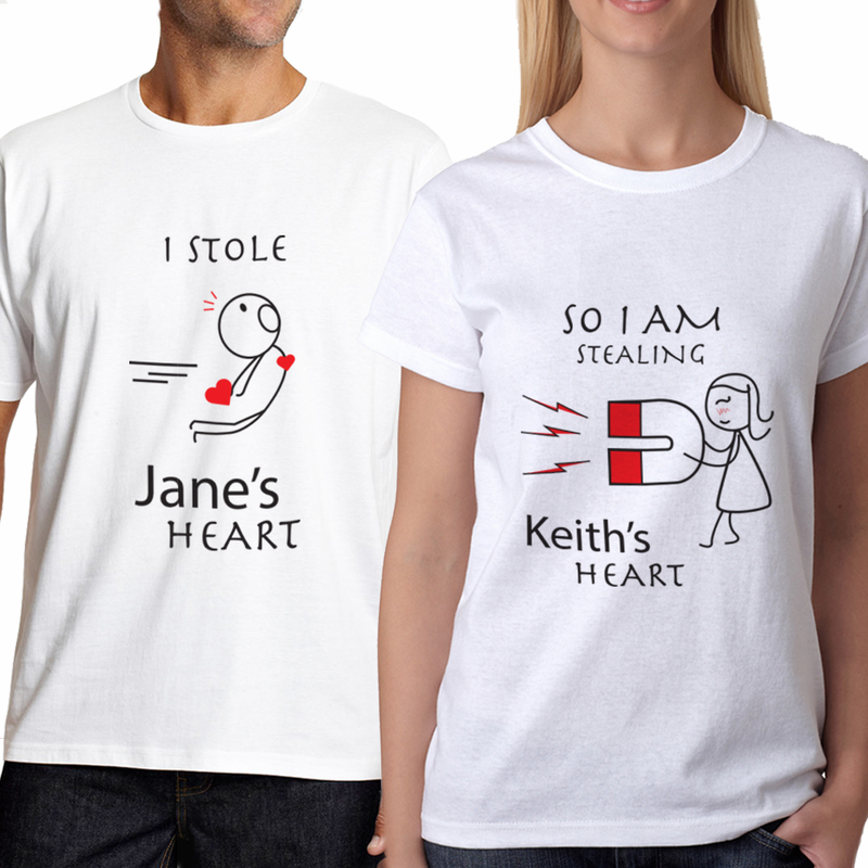 fd1c5f240e4b T Shirt Personalized. Personalized Couples ...