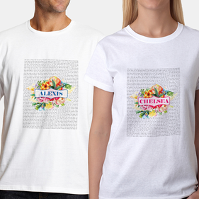 Personalized Couples Love Poem T-Shirts