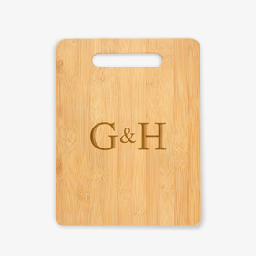 Personalized Couples Wooden Cutting Board