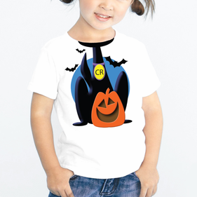 Personalized Creepy Halloween Cat Kids T-Shirt