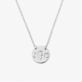 Personalized Cut-Out Monogram Necklace