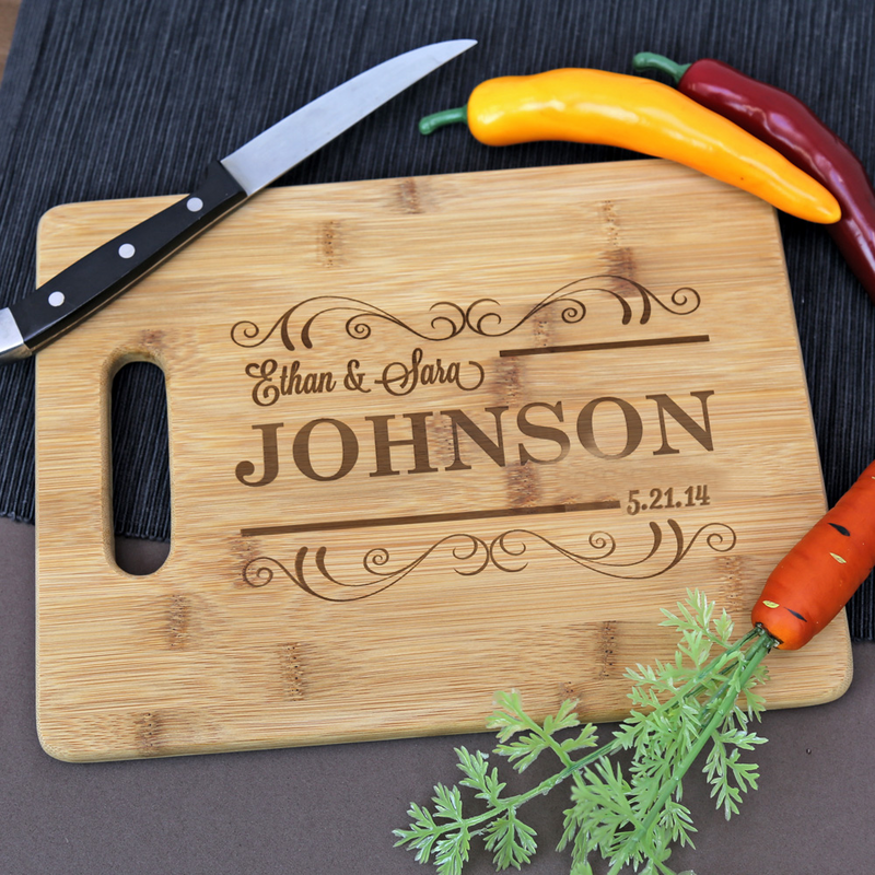 Elegant Personalized Bamboo Rectangle Cutting Boards Monogram Online, Kitchen Ideas