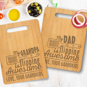 Personalized Dad and Grandpa Cutting Board