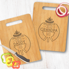 Personalized Daddy and Grandpa Grillmaster Cutting Board