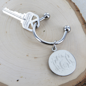 Personalized Disc Key Chain