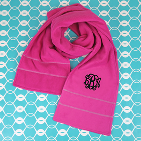 Personalized  Double-layer Microfleece Scarf