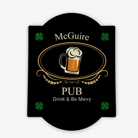 Personalized Drink And Be Merry Bar Sign