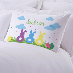 Personalized Easter Bunnies Kids Pillowcase