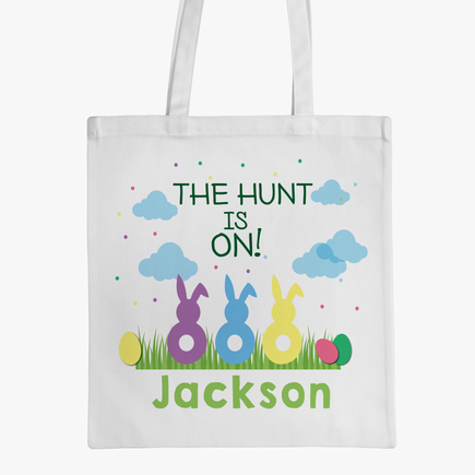 Personalized Easter Bunnies Tote Bag