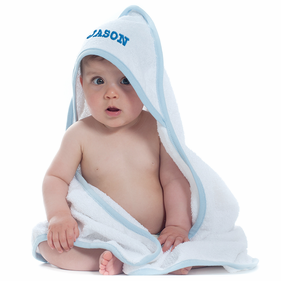 Personalized Embroidered Baby Hooded Bath Towel