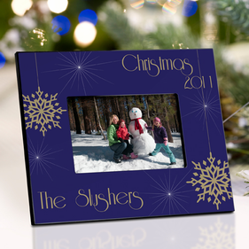 Personalized Evening Snowfall Picture Frame