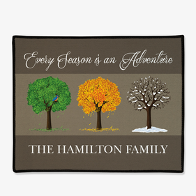 Every Season is an Adventure Personalized Doormat