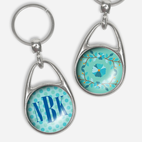 Personalized Monogram Pressed Key Chain
