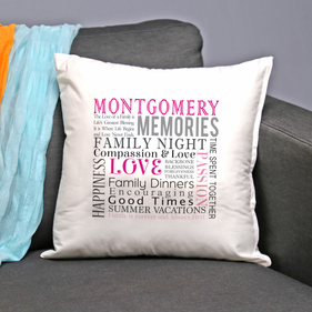 Personalized Family Decorative Pillow Cushion Covers