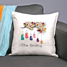 """Personalized """"Family Jars"""" Decorative Pillow Cushion Covers"""
