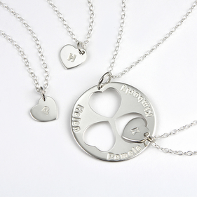Personalized Family Necklace for Mom and Daughters