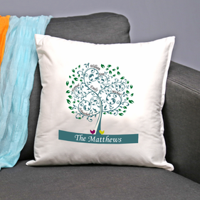 "Personalized ""Family Tree"" Decorative Pillow Cushion Covers"