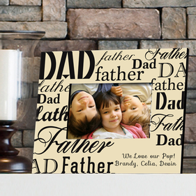 Personalized Father Picture Frame