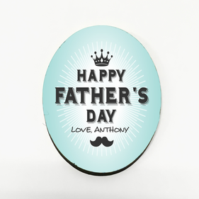 Personalized Father's Day Crown Refrigerator Magnet