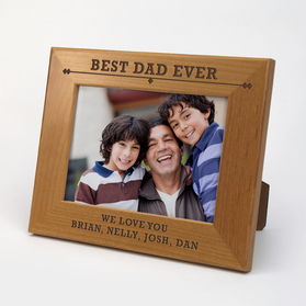 Personalized Father's Day Genuine Red Alder Picture Frame