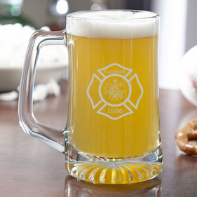 Personalized Firefighter Beer Mug