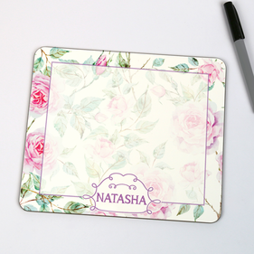 Personalized Floral Dry Erase Board