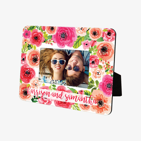 Personalized Floral Hardboard Picture Frame