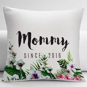 Personalized Floral Mommy Decorative Cushion Cover