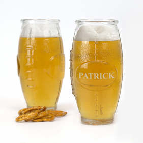 Personalized Football Shaped Beer Glass