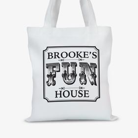 Personalized Fun House Tote Bag