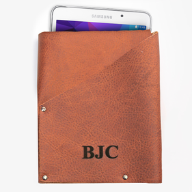 Personalized Genuine Leather Tablet Pouch