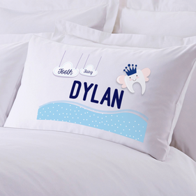 Personalized Boy's Tooth Fairy Pillow Case