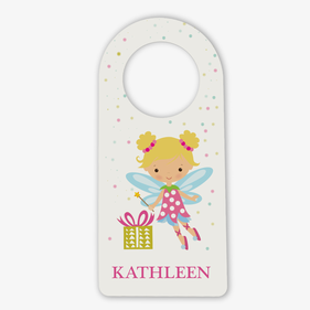 Personalized Girls Fairy Door Hanger