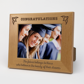 Personalized Graduation Genuine Red Alder Picture Frame