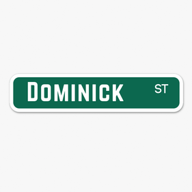 Personalized Green Street Sign