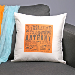Personalized Halloween Decorative Pillow