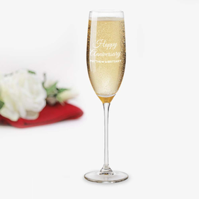 Personalized Happy Anniversary Toasting Flute