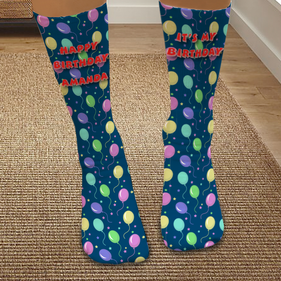 Personalized Happy Birthday Tube Socks