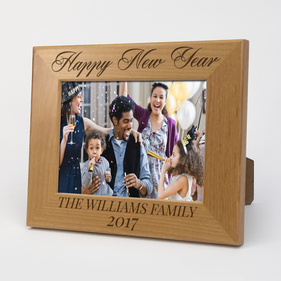 Personalized Happy New Year Wood Picture Frame