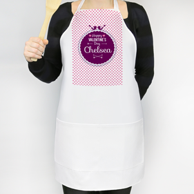 Personalized Happy Valentine's Day Apron