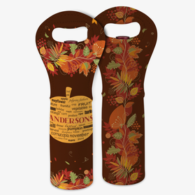 Personalized Harvest Insulated Wine Gift Bag