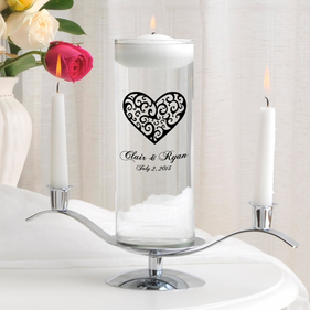 Personalized Heart Floating Unity Candle Sets