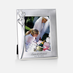 Personalized Hearts Wedding Photo Frame